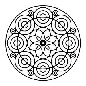 mandala with different kind of circles