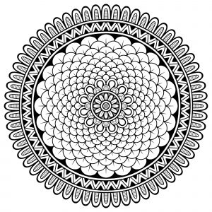 Mandala with various petals