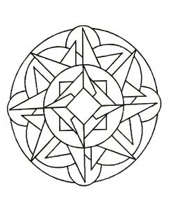 Very simple Anti stress Mandala