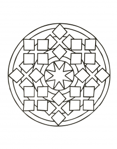 Mandala with squares and star in the middle