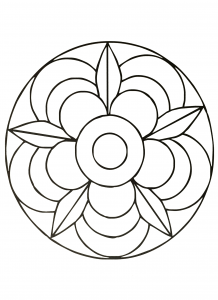 Cute Mandala : the Flower