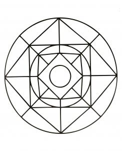 Simple Mandala for kids