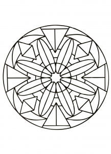 Simple & symmetric Mandala