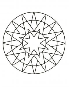 """""""Sun"""" Mandala (very simple)"""