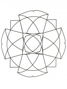 Funny strange Mandala