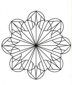 Exclusive geometric Mandala design
