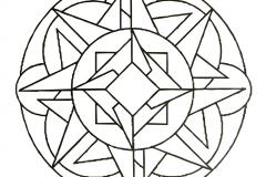 Anti stress abstract Mandala