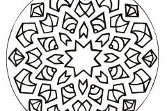 Mandala with a star in the middle