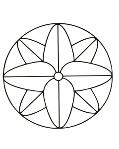 Geometric very simple Mandala