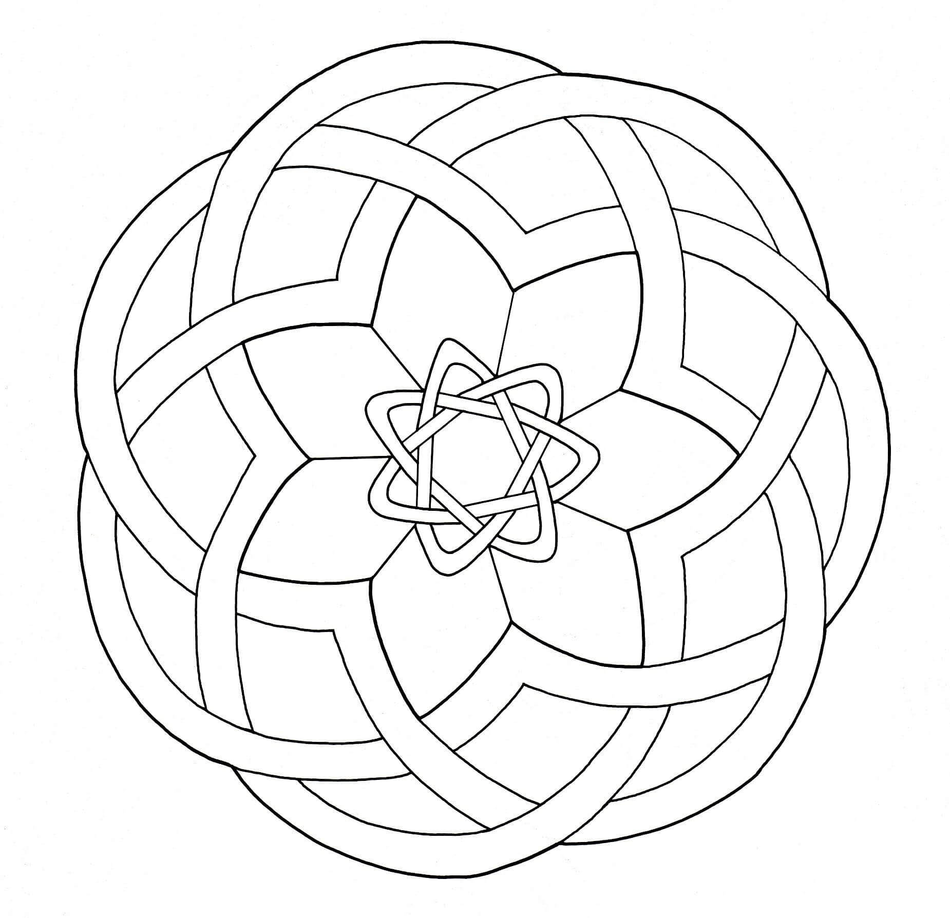 A Mandala out of the ordinary, which will allow you to spend a good time coloring, without complicating your life with too little areas, if it's not what you search for.