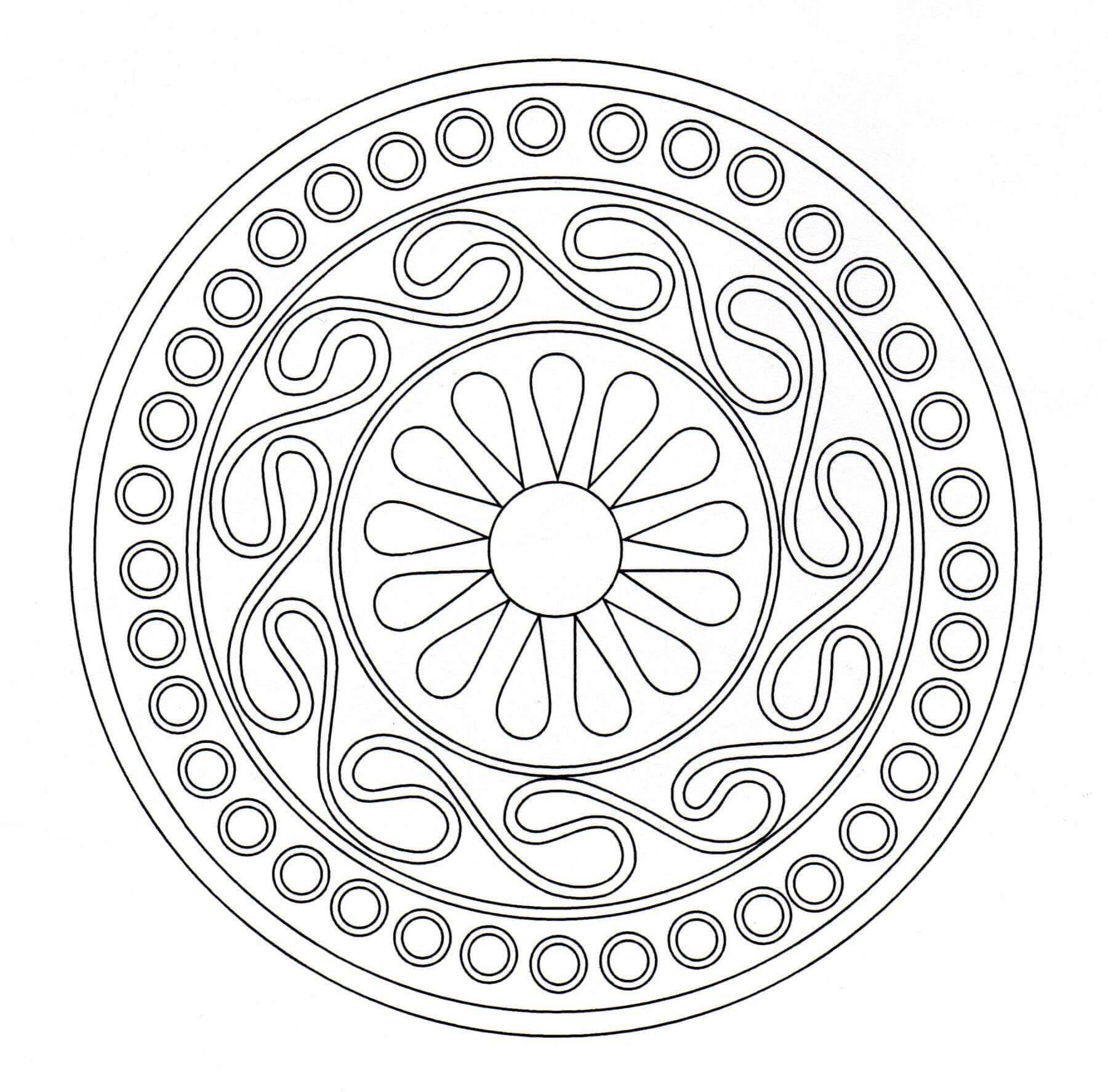 Mandala Monday - Free Celtic Mandalas to Color | 1774x1800