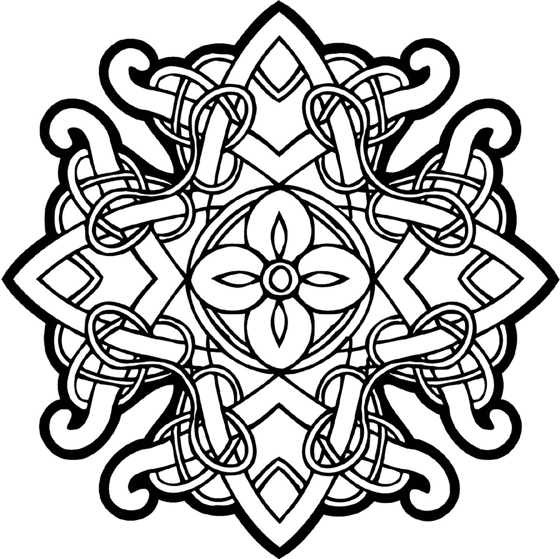 Celtic Mandala 23 - Simple Mandalas - 100% Mandalas Zen ...