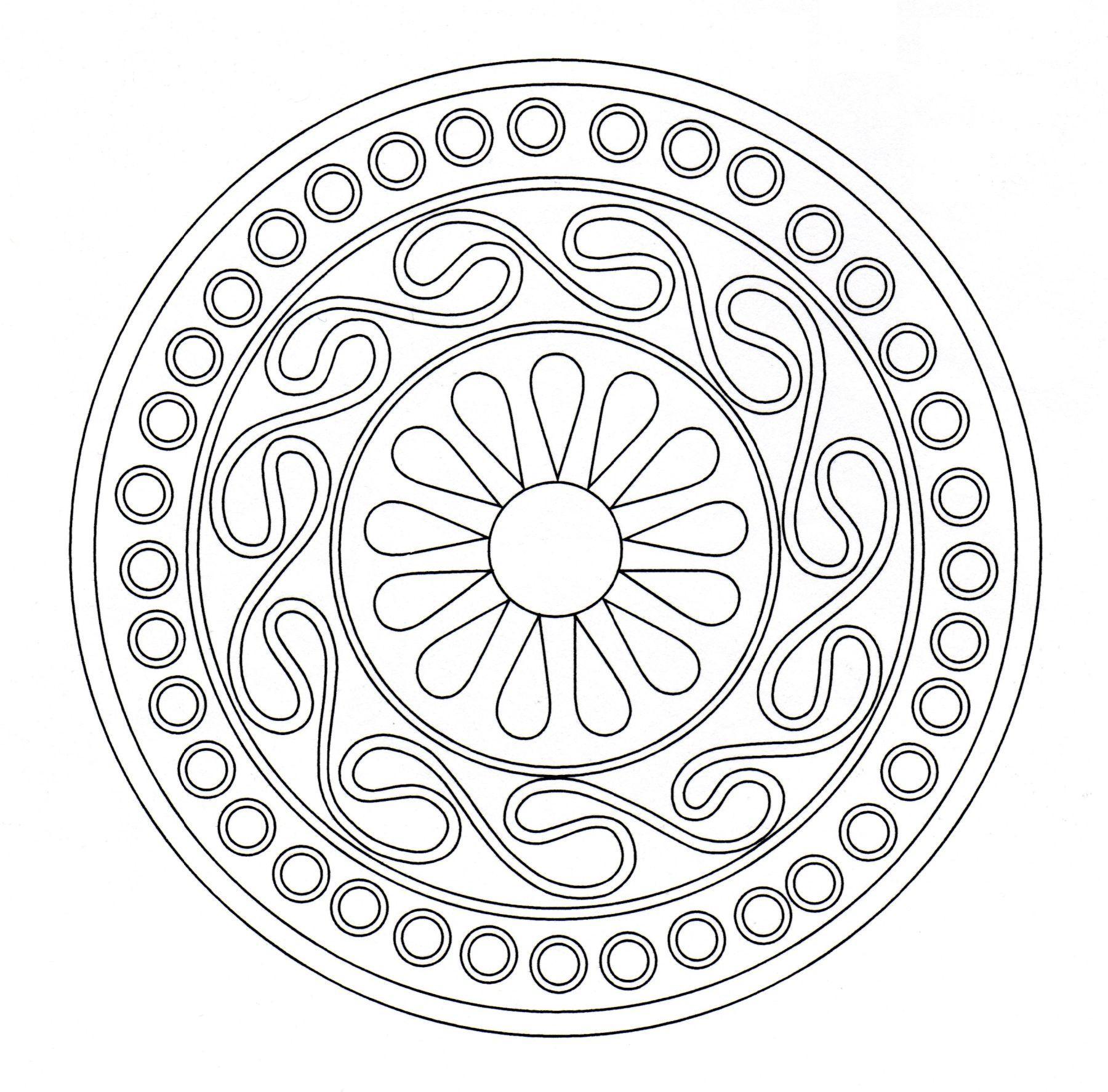 Mandala celtic 7 Simple Mandalas 100 Mandalas Zen Antistress