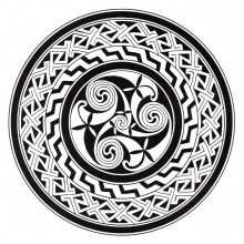Coloring mandala celtic 12