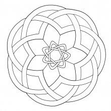 Coloring mandala celtic 15