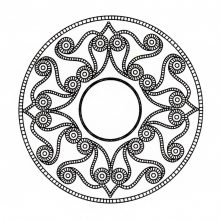 Coloring mandala celtic 5