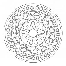 Coloring mandala celtic 7
