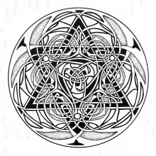Coloring mandala celtic 9