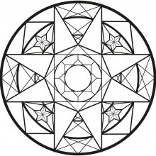 Mandala art deco