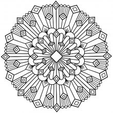 Mandala coloring art deco simple