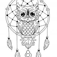 mandala easy dreamcatcher owl