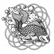 mandala-fish-and-bubbles free to print