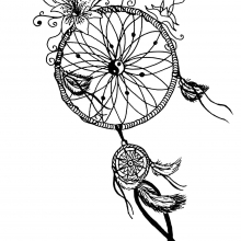 mandala-to-download-free-dreamcatcher free to print