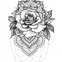 mandala-to-download-free-rose free to print