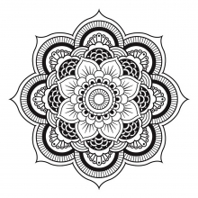 mandala-to-download-free-simple-flower free to print