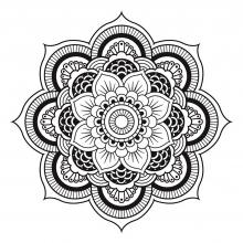 mandala-to-download-free-simple-flower free to print