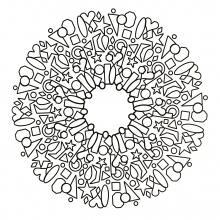 mandala-to-download-hearts-and-objects free to print