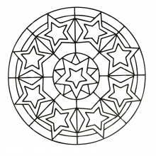 mandala-to-download-stars free to print