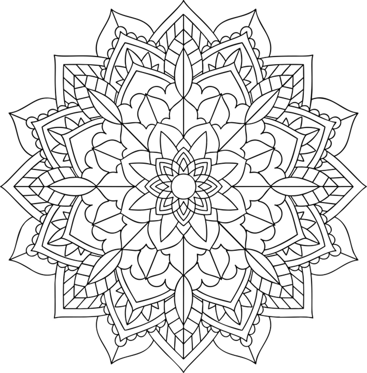 This floral Mandala is perfect if you want to take time to color, be relaxed and calm ... and feel all the benefits of coloring.