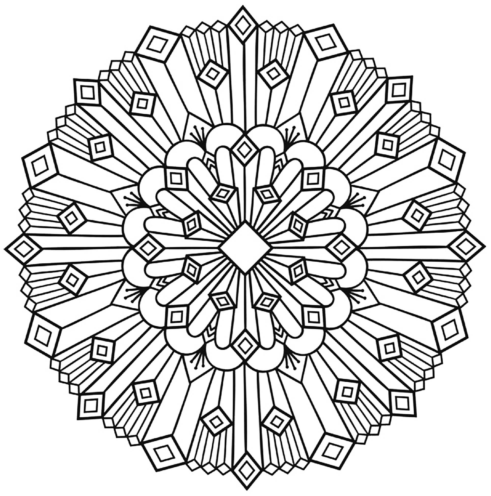 Art Deco Mandala - Simple Mandalas - 100% Mandalas Zen & Anti-stress