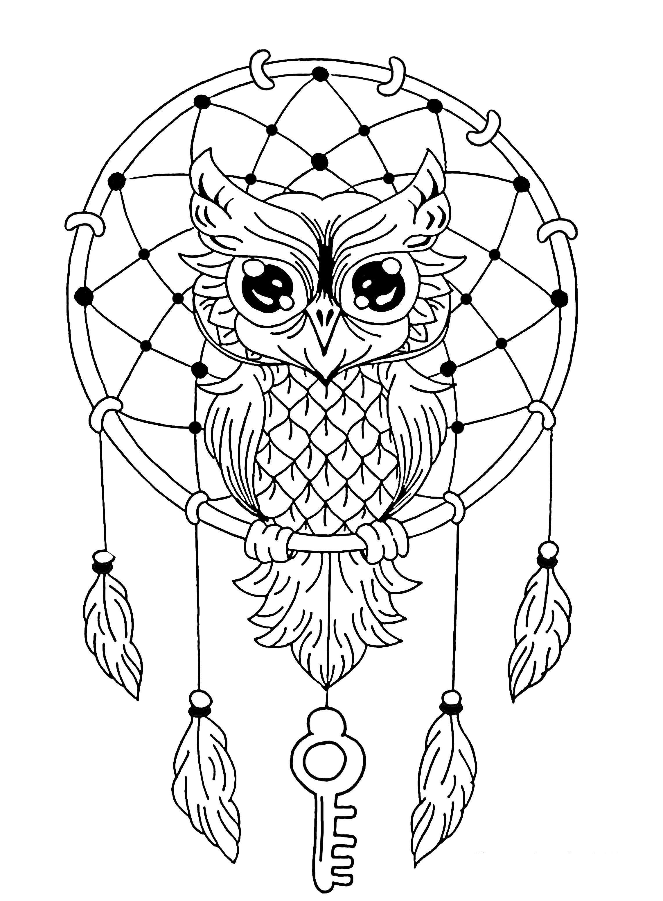 mandala easy dreamcatcher owl simple mandalas 100