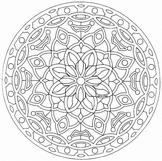Mandala to color free to print 22