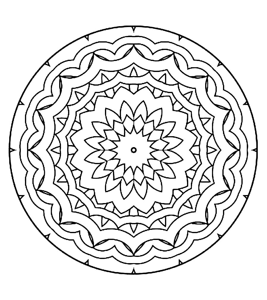 related simple mandalas coloring pages - photo#3