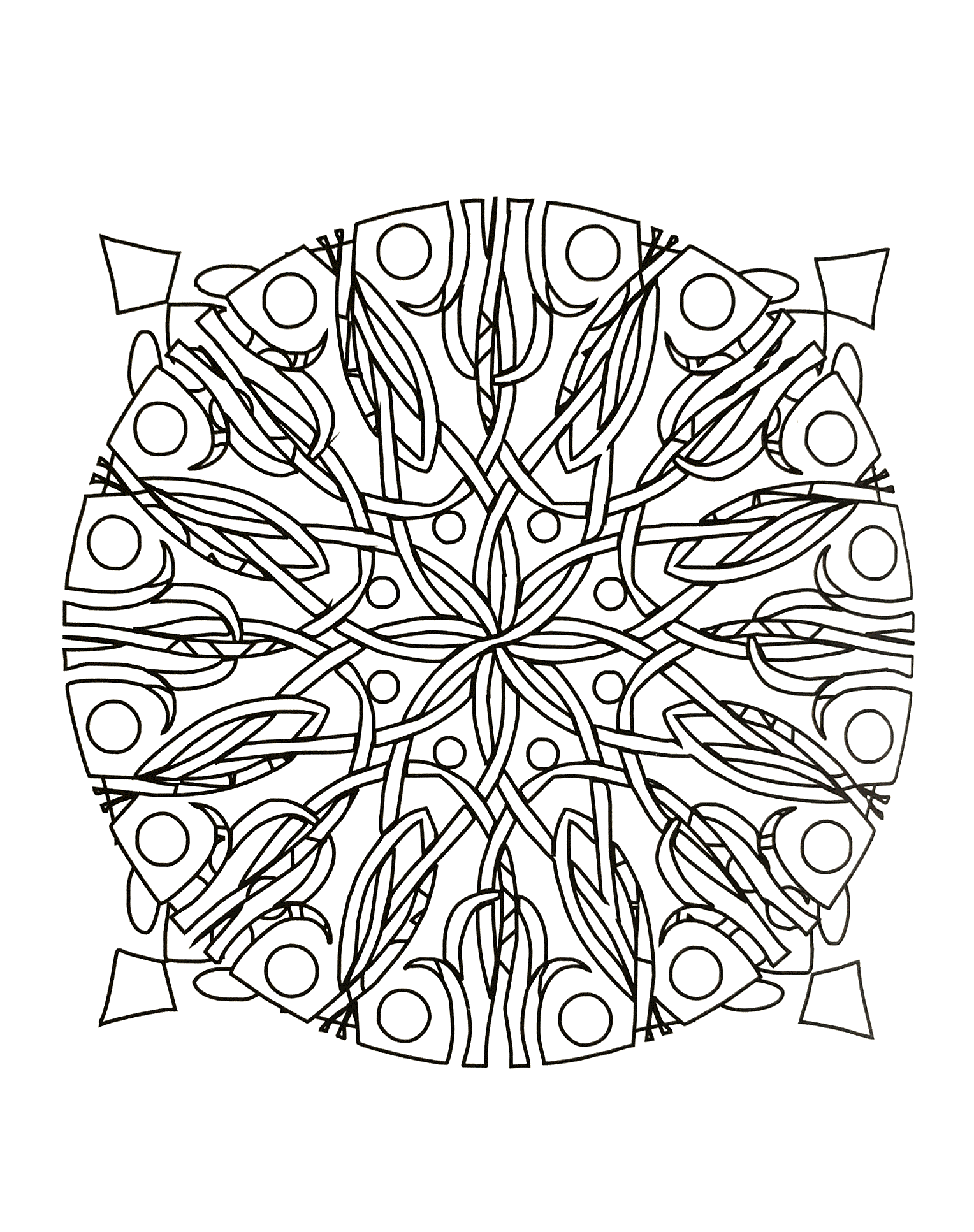 Mandala to download floral abstraction