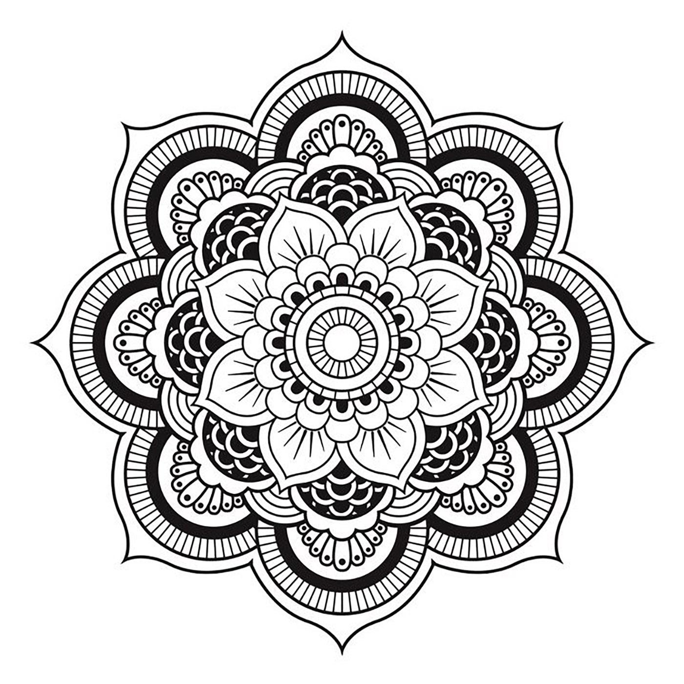 Mandala to download free simple flower , Simple Mandalas