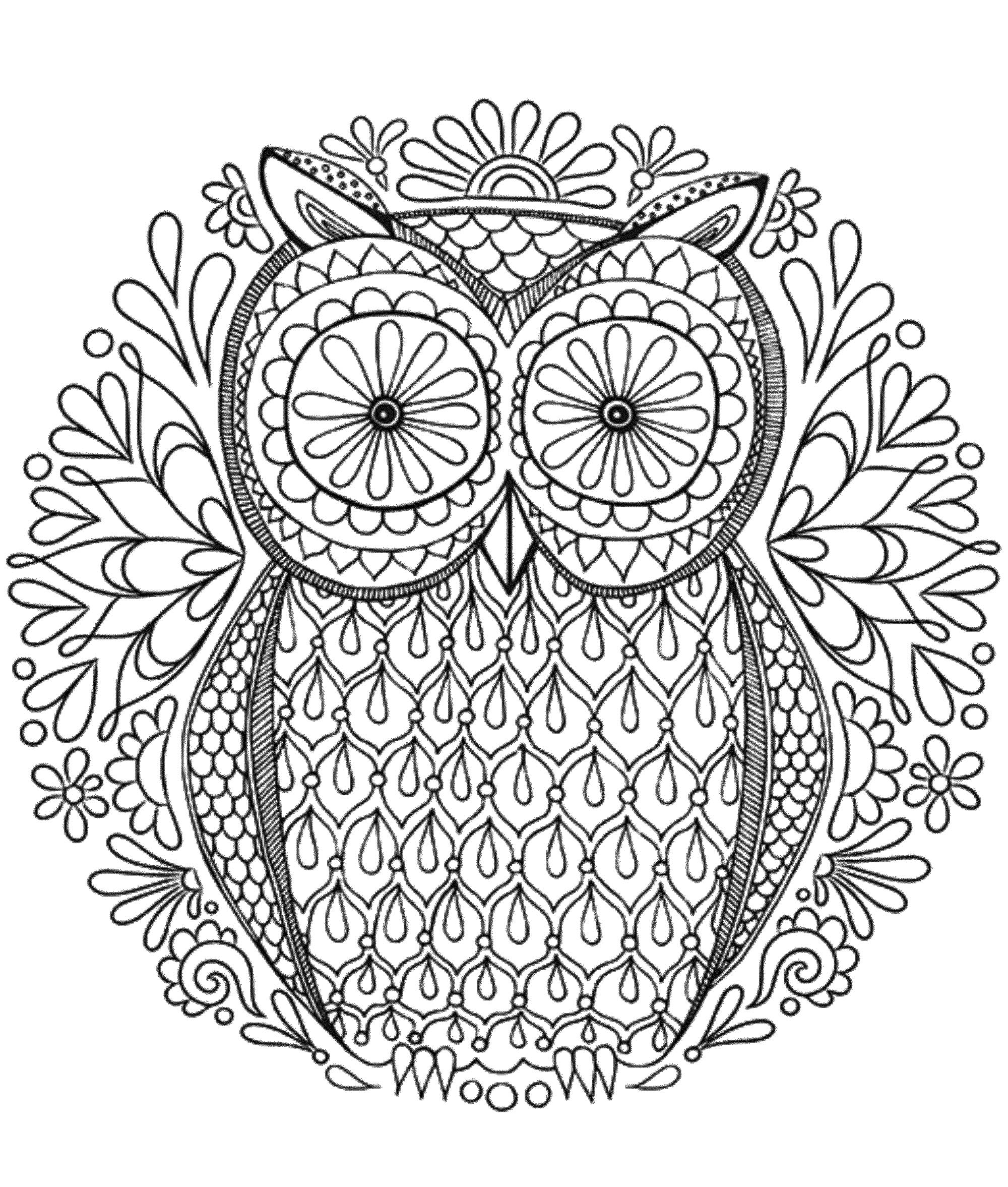 Mandala to download owl - Simple Mandalas - 100% Mandalas ...