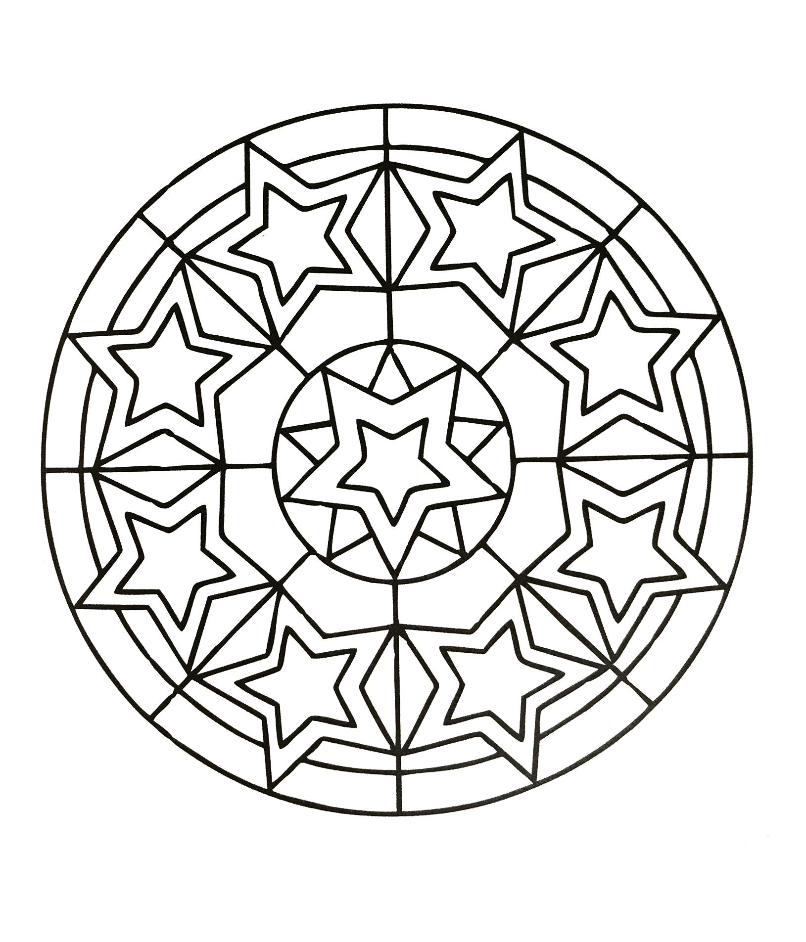 Mandala to download stars - Simple Mandalas - 100% Mandalas Zen ...