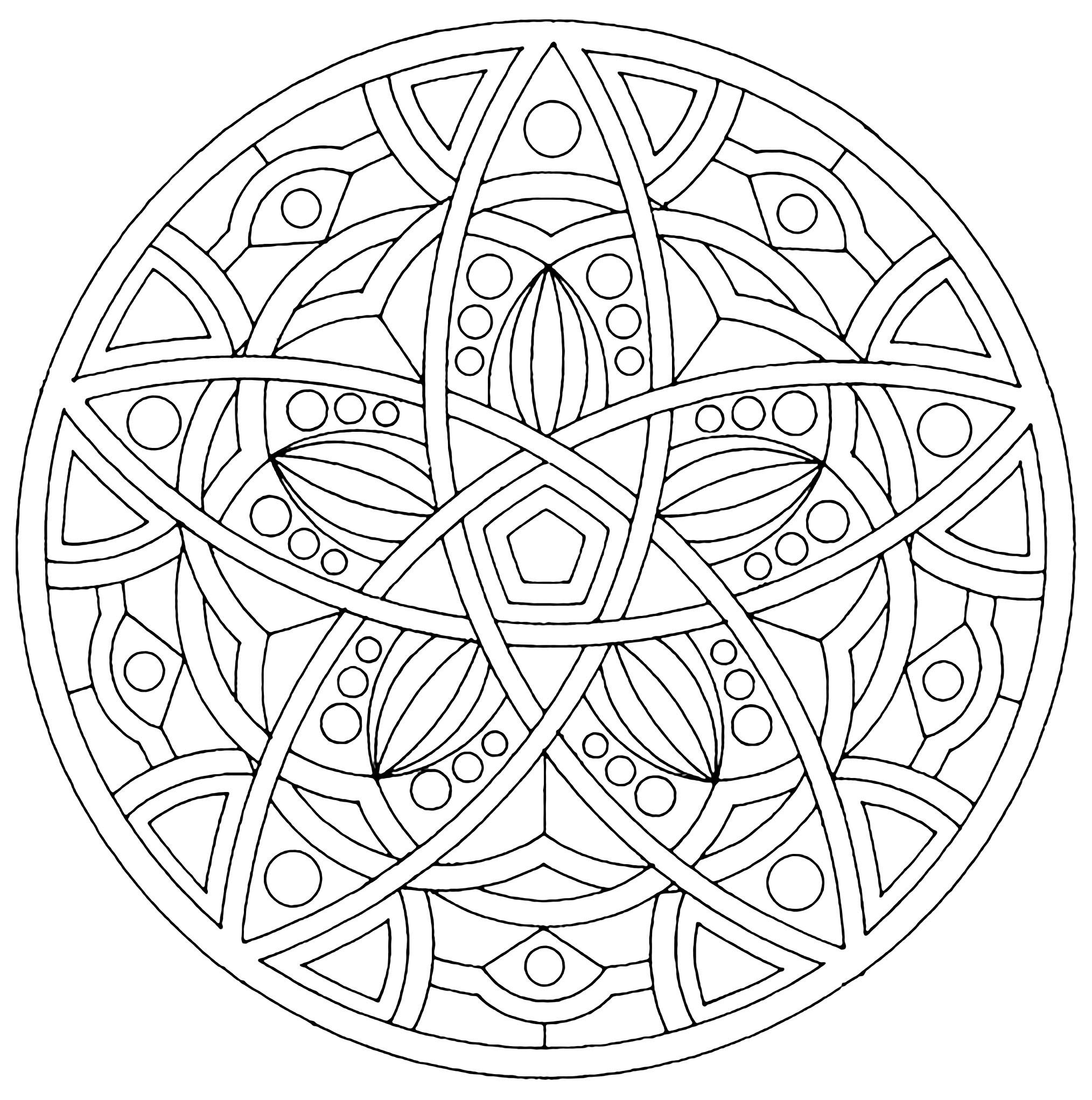 Mandala to print harmony - Simple Mandalas - 100% Mandalas Zen & Anti-stress