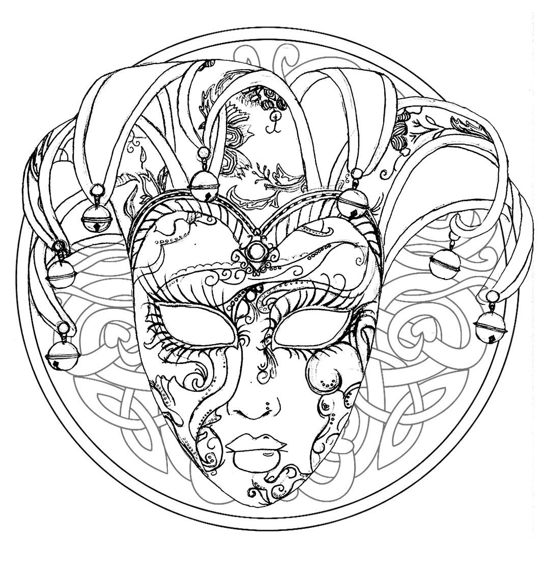 Mandala with a Venice Carnival Mask