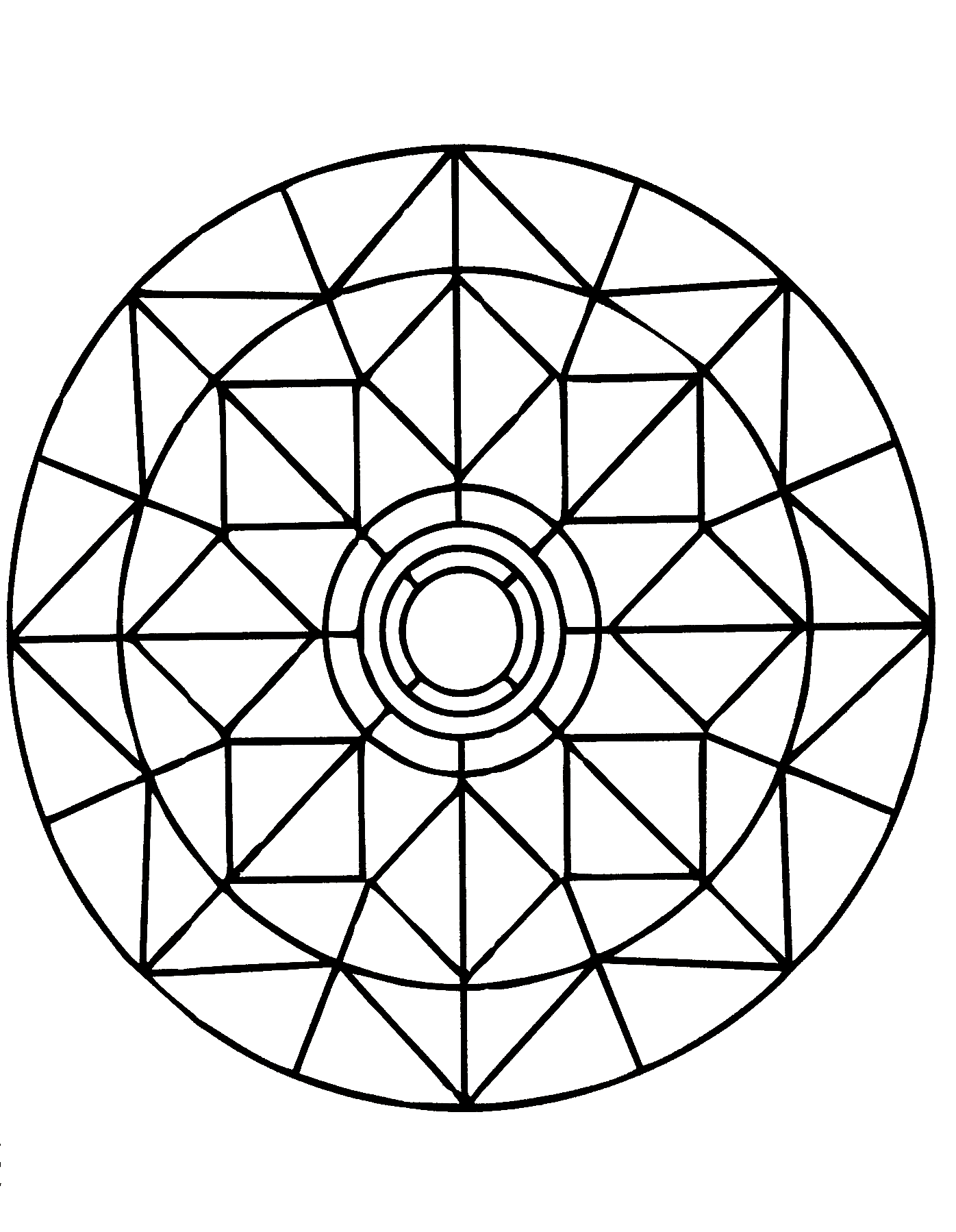 Simple mandalas to print and color