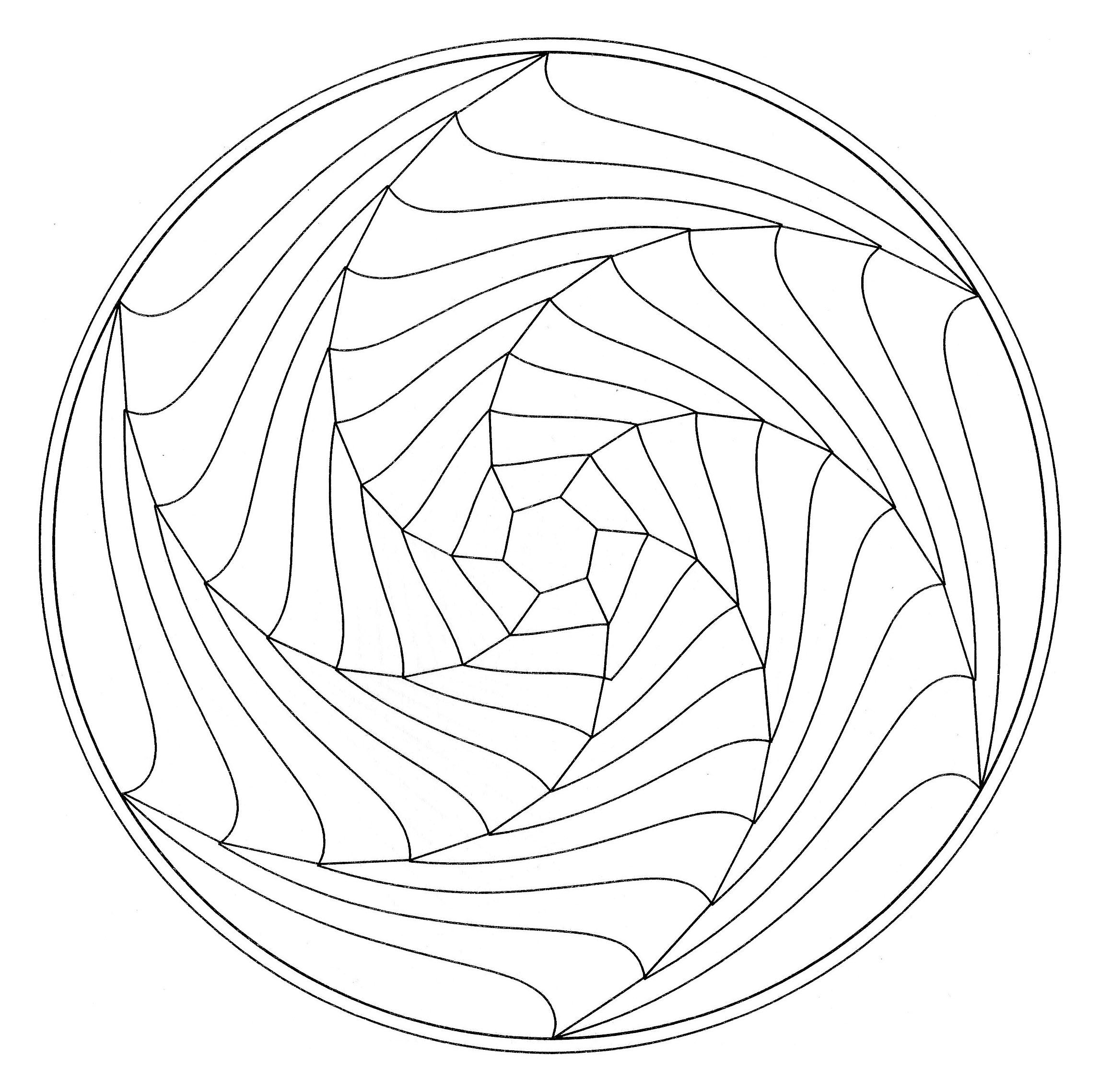 optical illusion mandalas normal coloring simple stress level