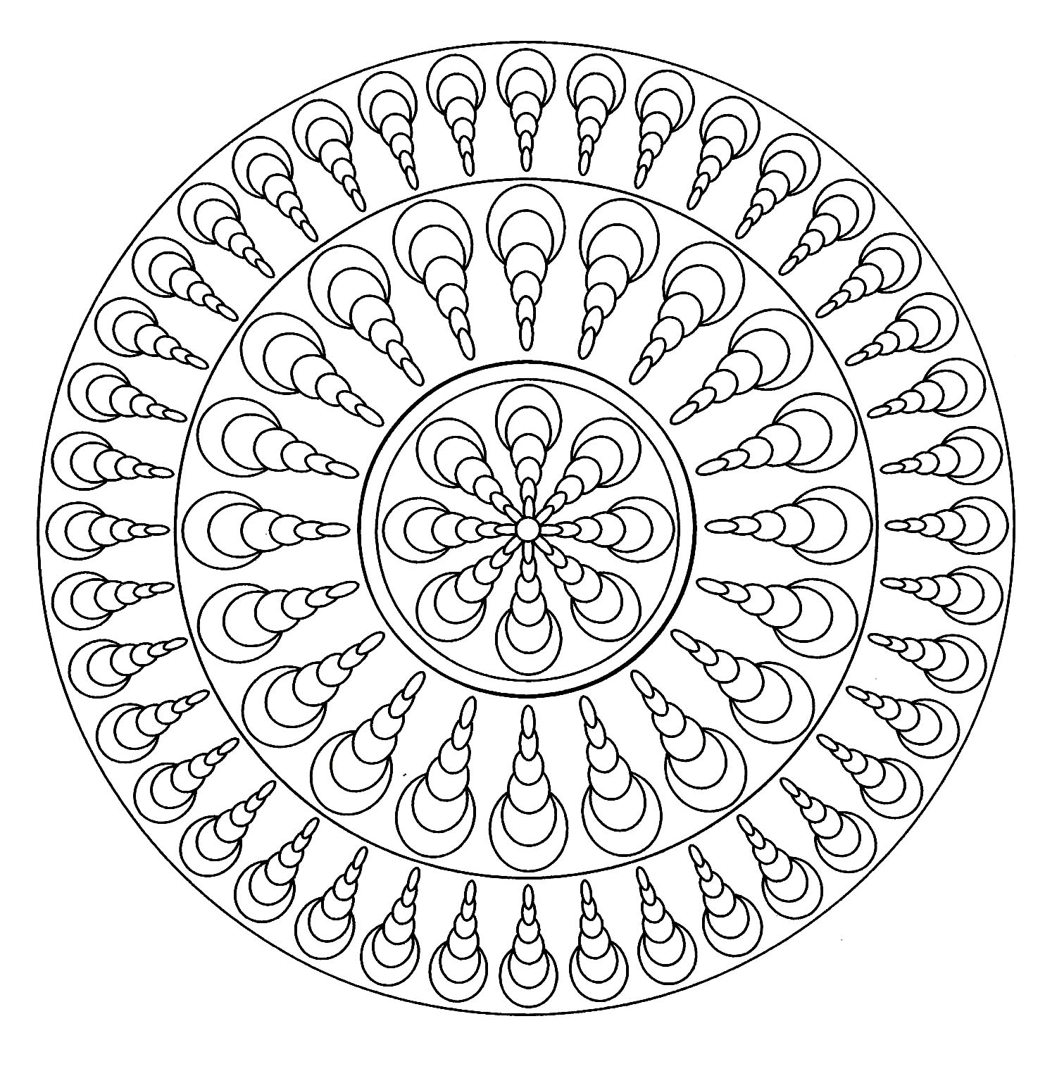 Simple Mandala 4 - Simple Mandalas - 100% Mandalas Zen & Anti-stress