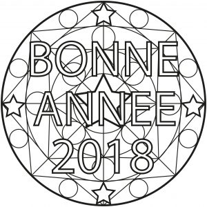 """Bonne Année"" Mandala"