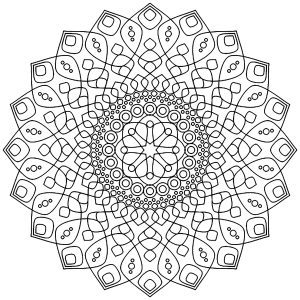 Soothing and Calming Mandala