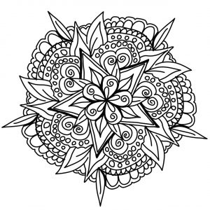 Vegetal hand drawn Mandala