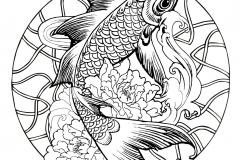 mandala fish carp